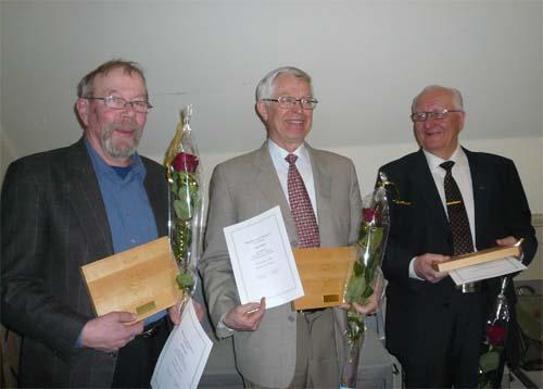 Ansioplaketit 2009 Pekka Eini, Matti Palo ja Risto Hyvärinen